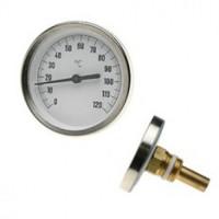 """Термометр  0-120*C , d40мм,   1/2""""  TIM"""